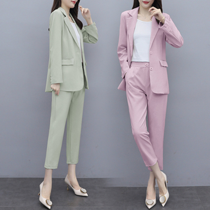 2020 autumn new casual suit jacket, female temperament, fashion, western style, professional wear, n