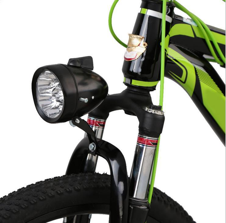 Đèn pha cổ điển Đèn pha 3LED gắn phía trước xe đạp leo núi .