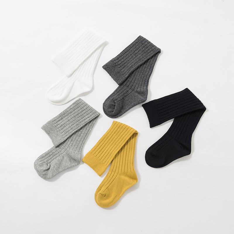 Children's socks 2020 spring new Korean version of vertical stripes children's socks cotton over t
