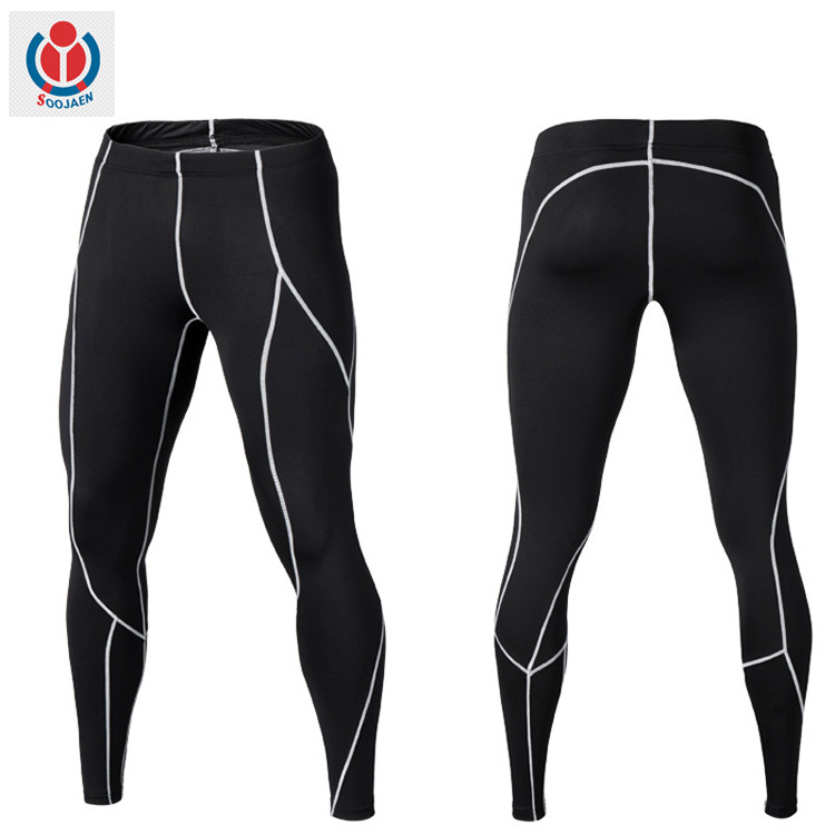 SOOJAEN Spot sports tights basketball running fitness clothes stretch compression quick-drying fitne