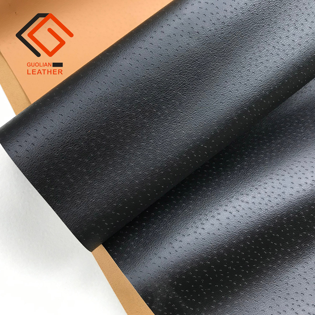 GUOYUAN Spot Pu artificial leather pigskin inner lining breathable pinhole pattern classic shoe mate