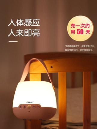 Op Đèn tường  cho con bú đèn ngủ cho con bú cạnh giường ngủ phòng ngủ bảo vệ mắt có thể sạc lại cảm