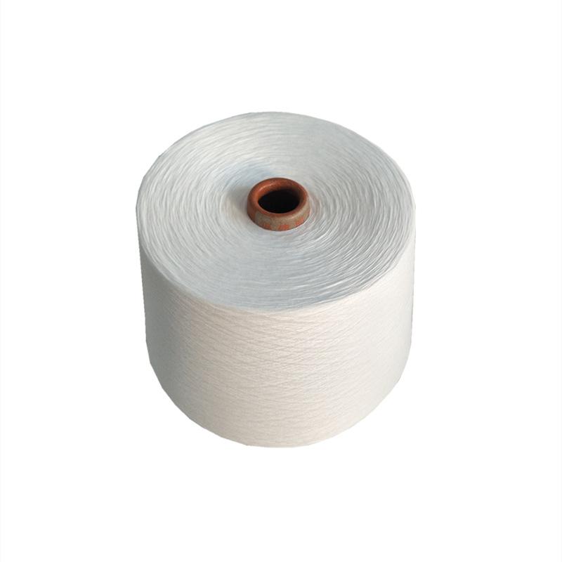 XINHENG 30s polyester yarn chemical fiber yarn 26 count 40 count knitting white yarn flax grey yarn