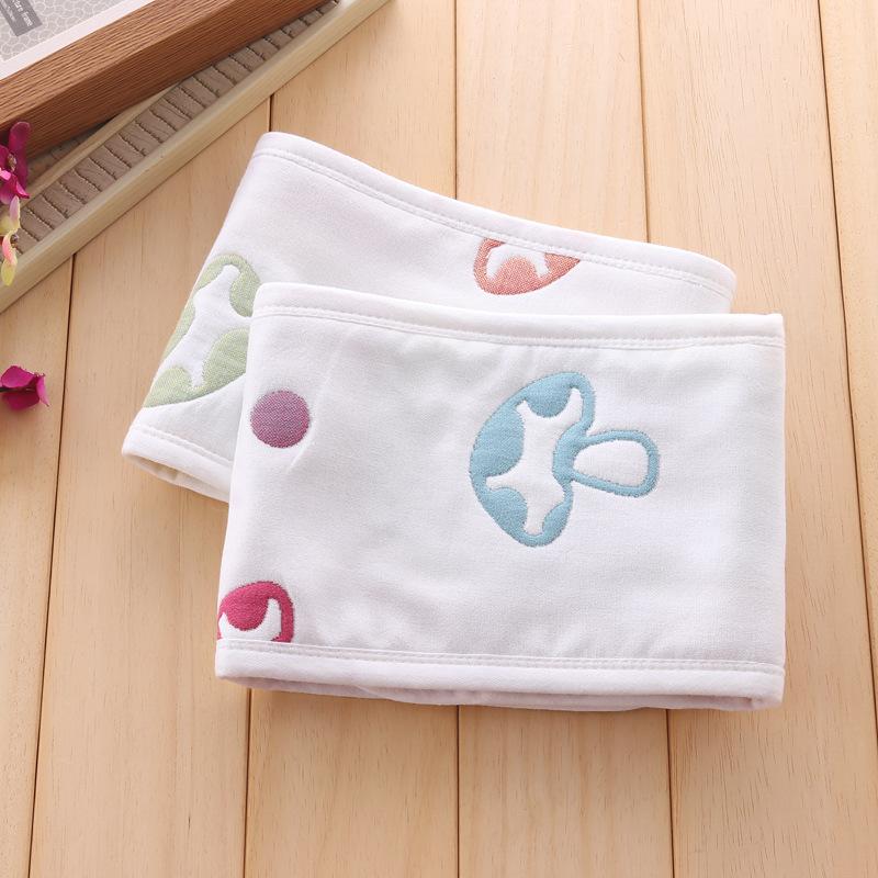 YINZHISHI 6-layer pure cotton gauze newborn jacquard belly protector children's abdominal girth bab