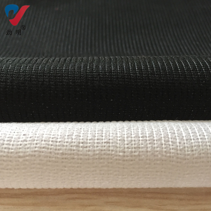 Jinming warp knitted double point fabric with spinning lining and black and white garment lining