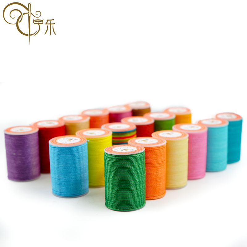 YULE Spot wholesale new DIY hand sewing round wax thread 0.45mm polyester round wax thread 3 strands