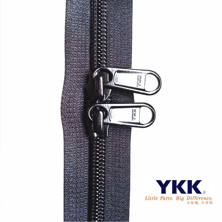 YKK nylon RC luggage code zipper 35810# black large quantity spot