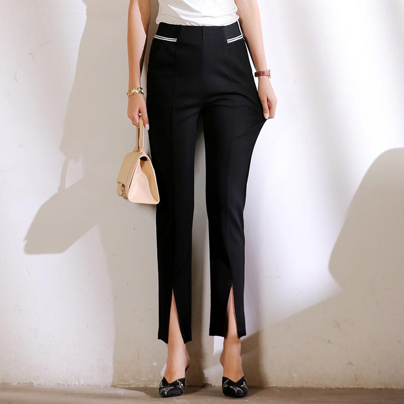 FRMZMicro flared pants 2020 autumn new black pants casual pants high waist slim loose drape split fl