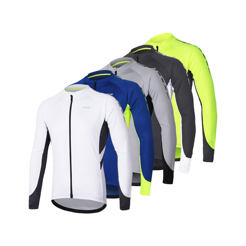 ARSUXEO Ai Suou spot color matching quick-drying breathable cycling long-sleeved mountain bike cycli