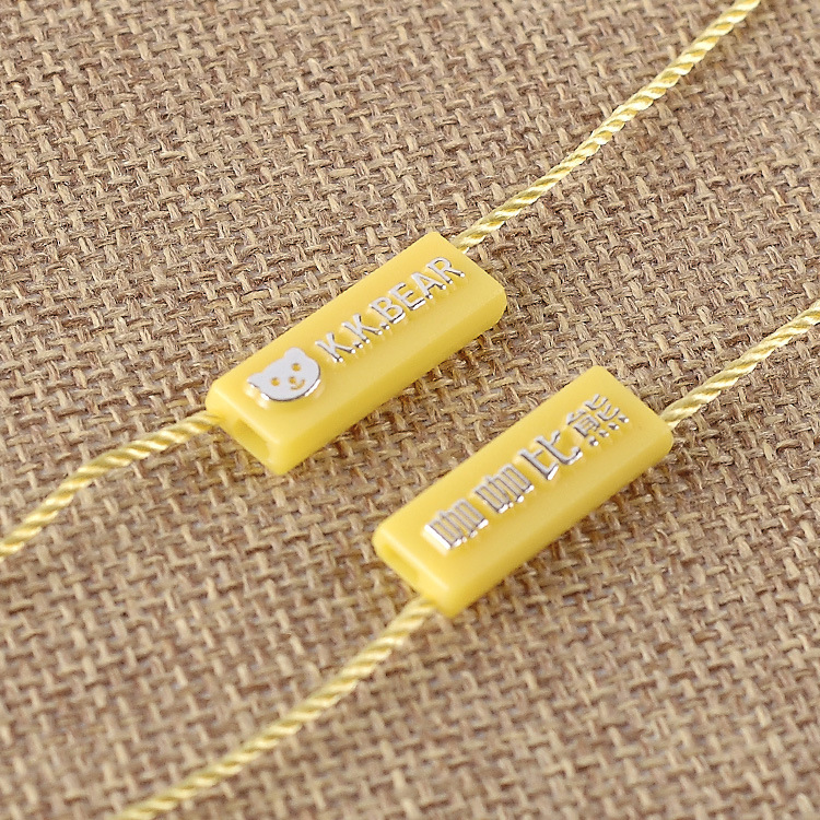 DEHUI Customized plastic hanging granule / clothing tag / clothing sling