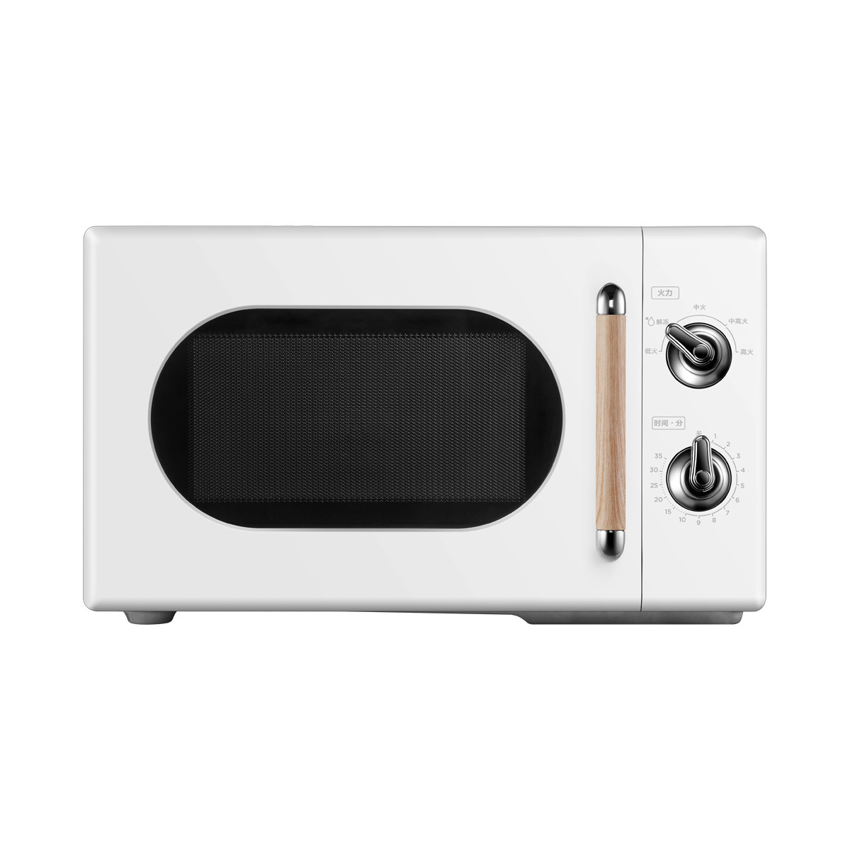 Midea microwave oven pm2004 retro knob dual control microwave oven 360 ° turntable heating 20 l pm20