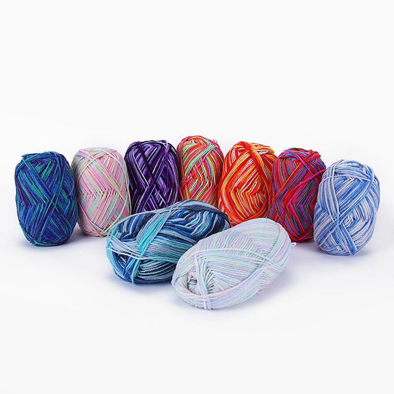 JINSE Acrylic section dyed yarn has strong three-dimensional sense, environmental protection and fas