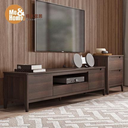 Kệ Tivi  Phòng ngủ căn hộ nhỏ phong cách Bắc Âu phòng khách bàn cafe tủ tivi kết hợp tủ tivi chân gỗ