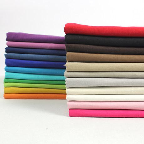 Plain Pure Color Linen Fabric Cotton Linen Clothing Fabric Pants Material DIY Cotton Linen Handmade