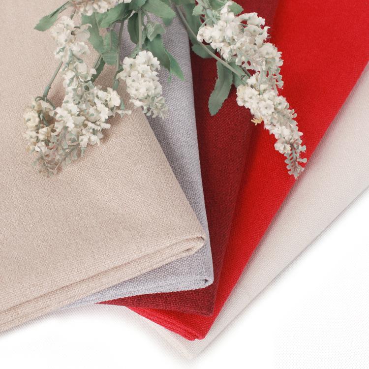 Sofa Fabric Fabric Imitated Linen Fabric Linen Fabric Wear-resistant Coarse Pillow Engineering Pure