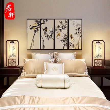 thị trường nội thất , đènPhong cách Trung Quốc mới đèn bàn phòng ngủ đèn ngủ phong cách Trung Quốc h