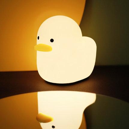 MUID Đèn tường  Dummy Duck Ngủ Ánh sáng Silicone Phòng ngủ Sáng tạo Cho bé bú Vỗ đầu giường Đèn bảo