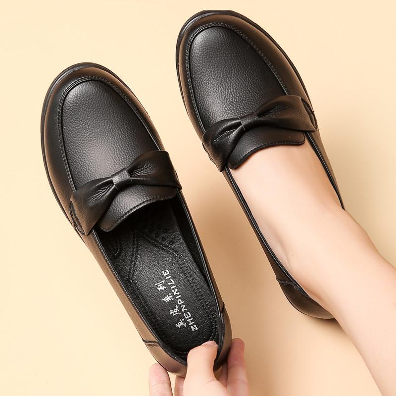 Giày da bò mới giày đế mềm cho người trung niên và cao tuổi