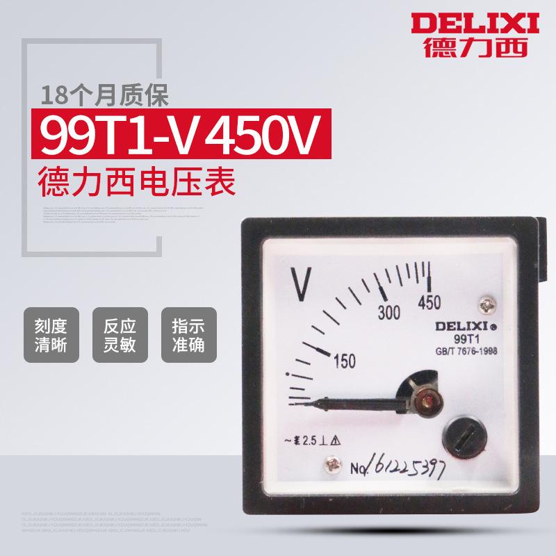 Dụng cụ đo điện cố định ampe kế 100A - Delixi 99t1 .