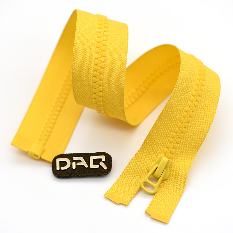 DAQ 5# Resin zipper opening, down casual clothing, front middle placket zipper, high-end jacket and