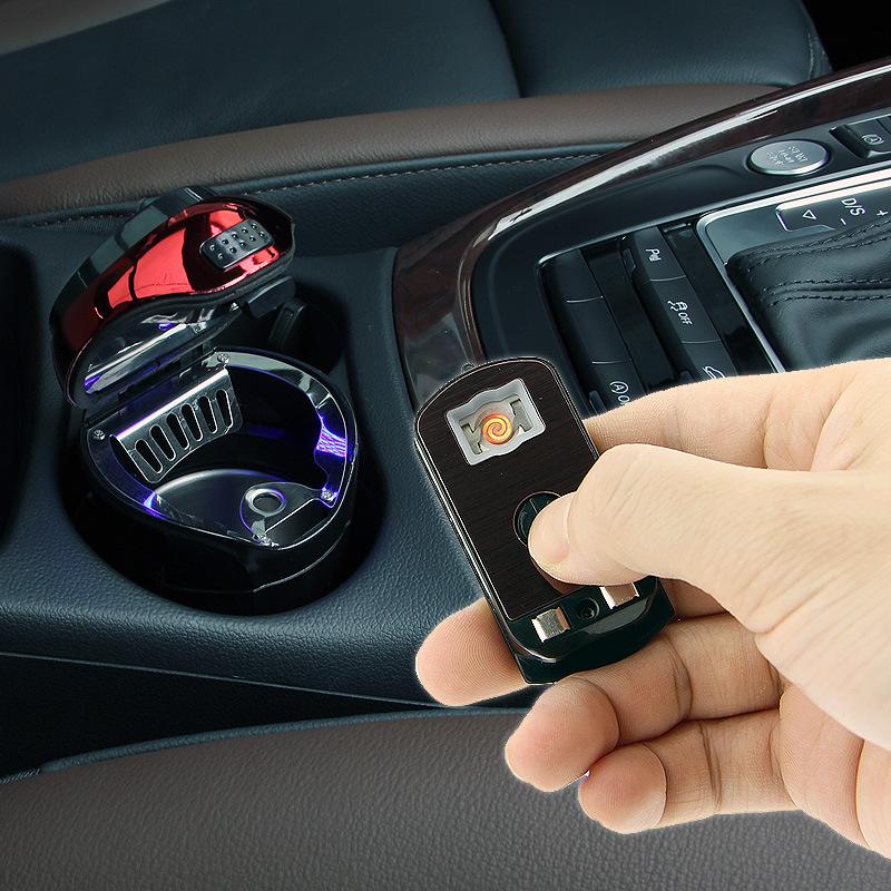 Gạt tàn thuốc lá với ánh sáng Đèn flash xe hơi N12D và nắp đậy sáng tạo