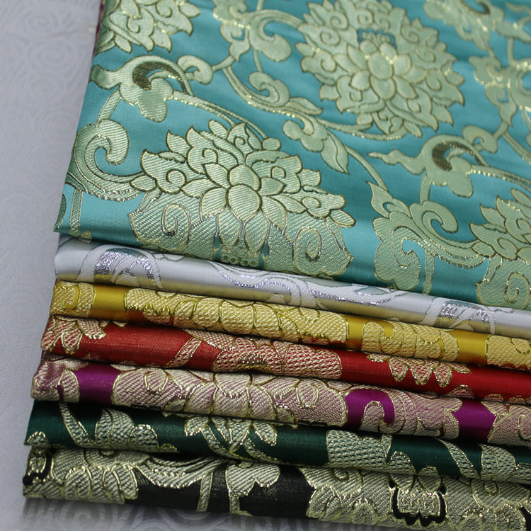 Chinese style jacquard brocade silk fabric cheongsam baby clothes cos costume Mongolian robe stage d