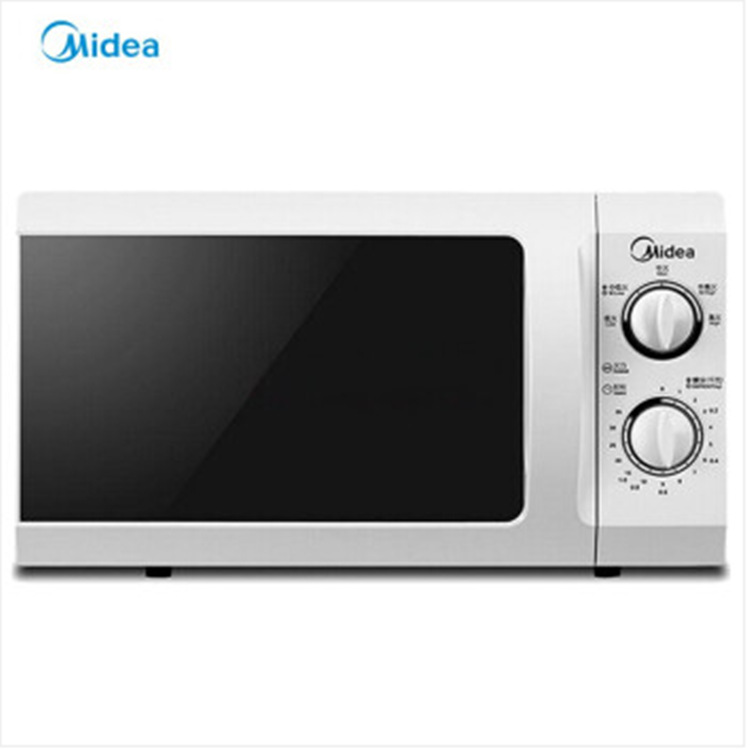 Midea microwave oven m1-211a small mini mechanical turntable heating side sliding door single machin