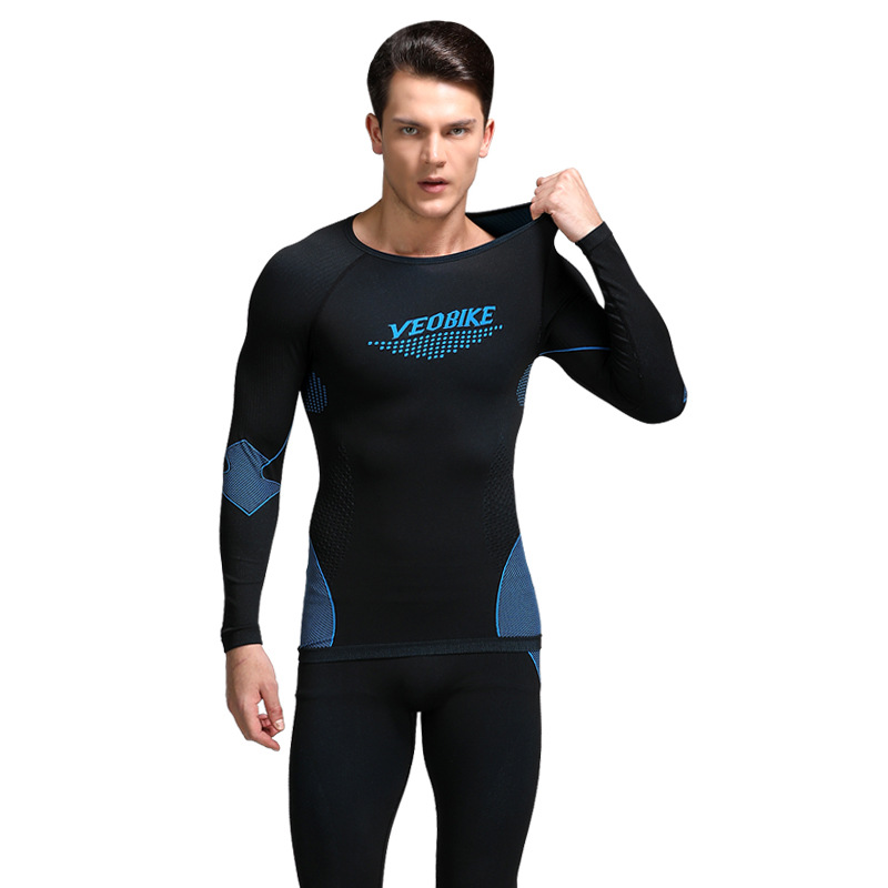Bamboo charcoal fiber seamless sports thermal underwear set for men and women Outdoor functional und