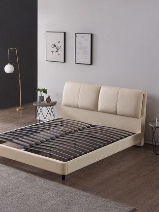 Milana giường  Giường da sang trọng kiểu Ý nhẹ nhàng Hiện đại Giường đôi kiểu Bắc Âu đơn giản Phòng