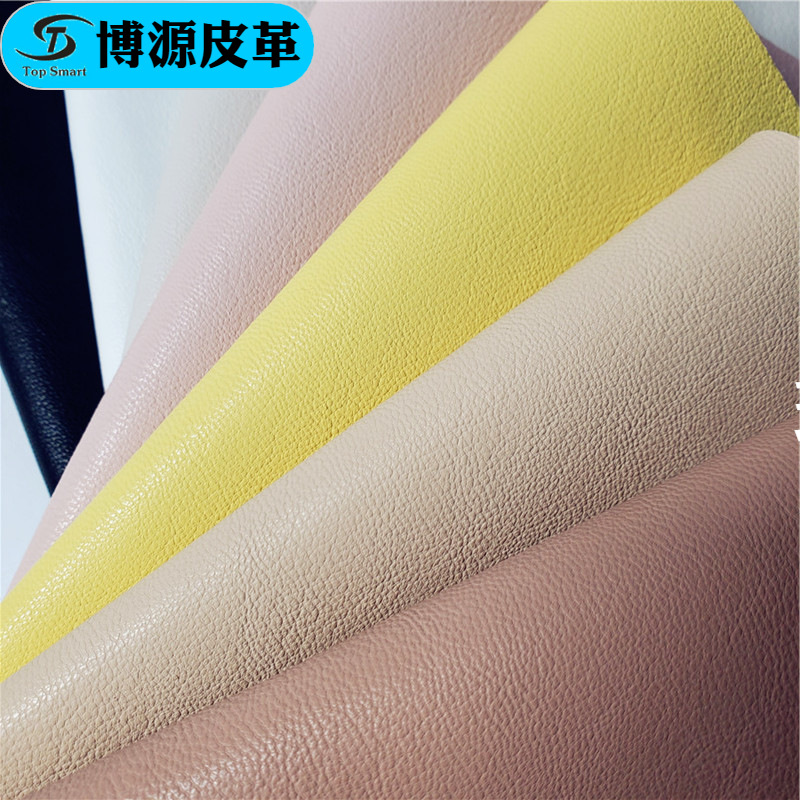 BOYUAN Sheepskin pattern real microfiber spot wholesale grain super soft sheepskin pattern leather f