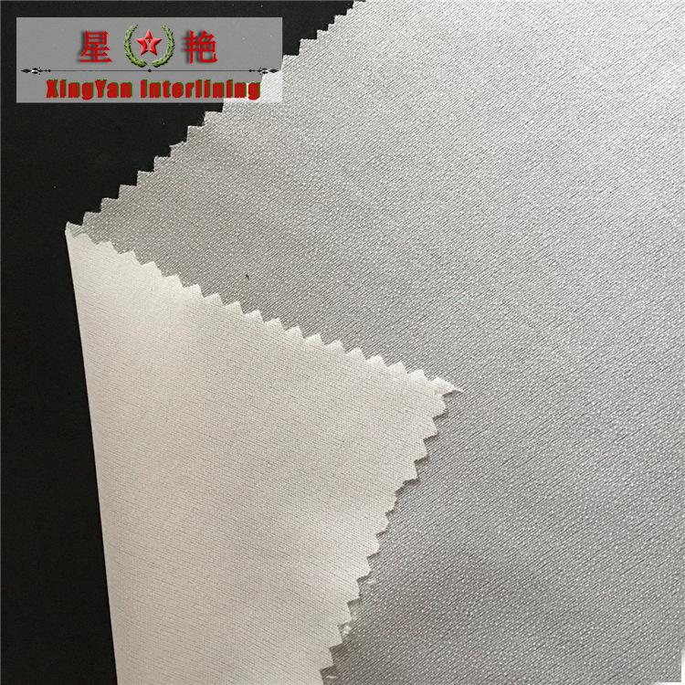 XINGYAN 150cm width garment interlining 30d interlining high quality fabric lining silk chiffon fusi
