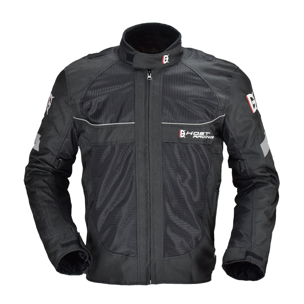 GHOST RACING Motorcycle jersey men's rider racing jacket, warm anti-fall motorcycle off-road suit w