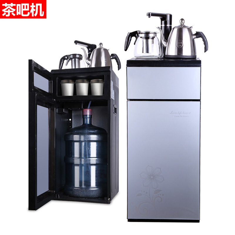 Water dispenser household vertical warm and energy-saving double door small smart automatic watering
