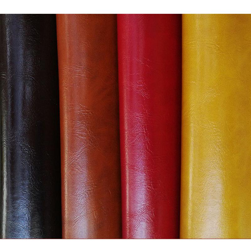 JIEWANG PU leather fabric oil wax leather artificial leather sofa furniture seat waterproof hard pac