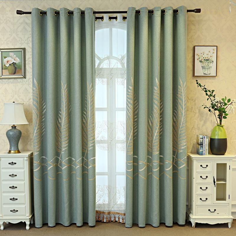Banana Leaf Jacquard Curtain Modern New Cotton Linen Curtain Fabric Living Room Curtain Fabric