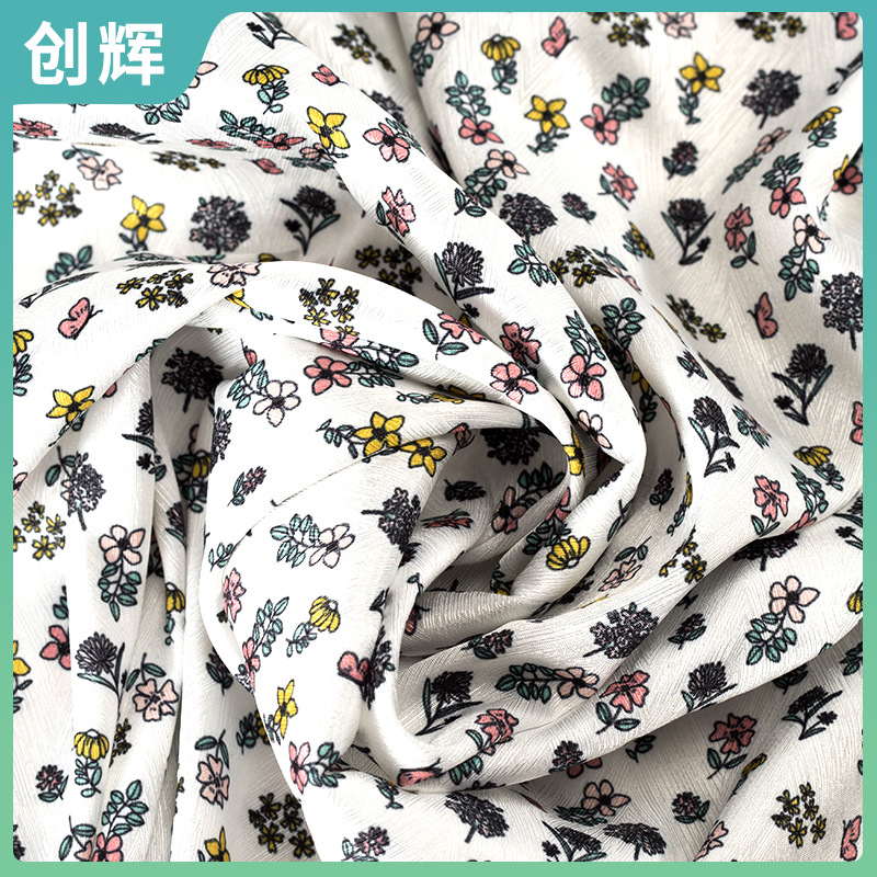 Digital printing processing Korean fresh small floral direct printing chiffon fabric printing
