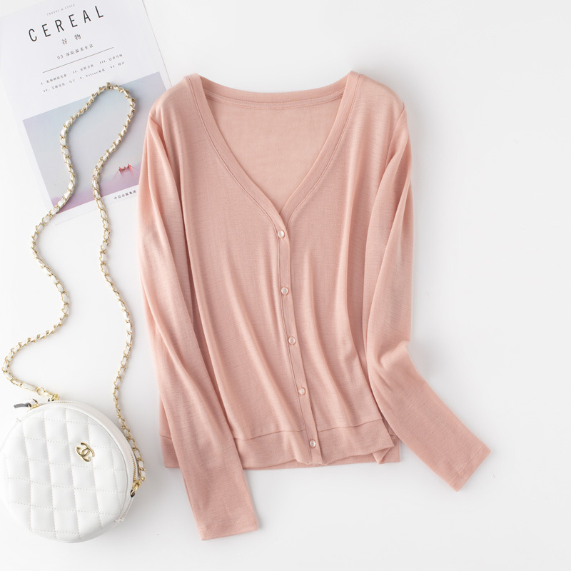 2020 knitted wool sweater women autumn and winter long-sleeved sweater merino thin bottoming shirt s