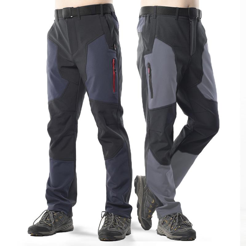 TeamQuick 2020 new winter outdoor waterproof assault pants men's plus velvet thickening color match