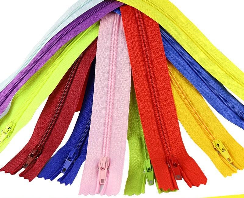 No. 3 nylon plastic pants zipper zipper handmade black and white color placket trousers clothing poc
