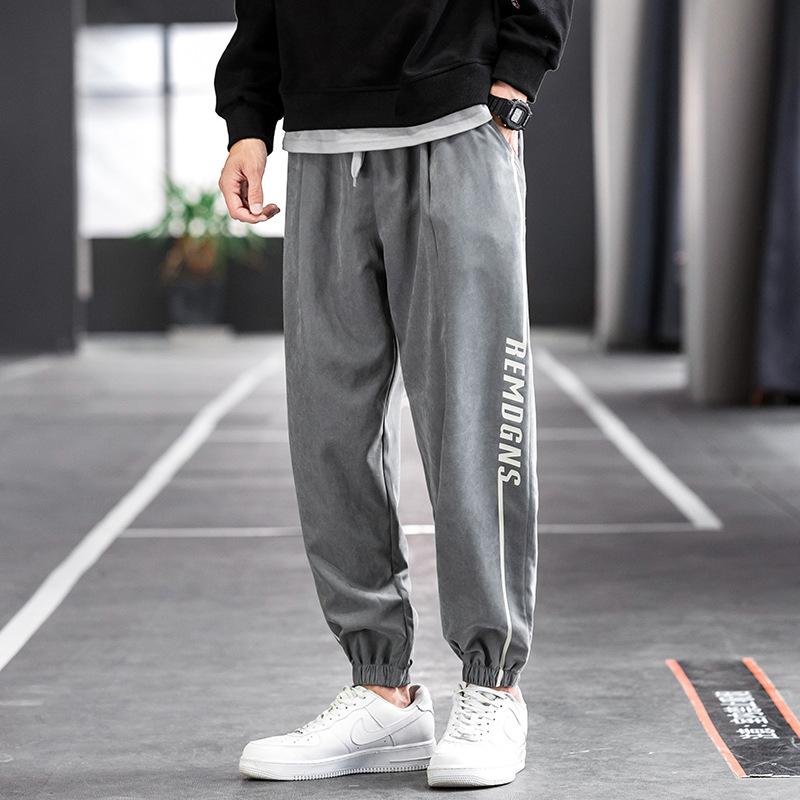 CISHUAI Casual pants men's autumn 2020 sports cropped pants trend all-match boys' foot pants cross