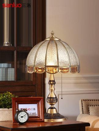 thị trường nội thất , đèn Đèn bàn châu Âu tất cả đồng Mỹ phòng khách sang trọng sáng tạo cao cấp lãn