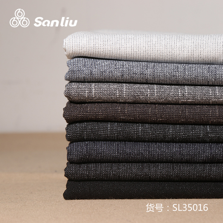 SANLIU Autumn and winter high-end fashion coat jacket fabric 36 tr jacquard woven fabric polyester c