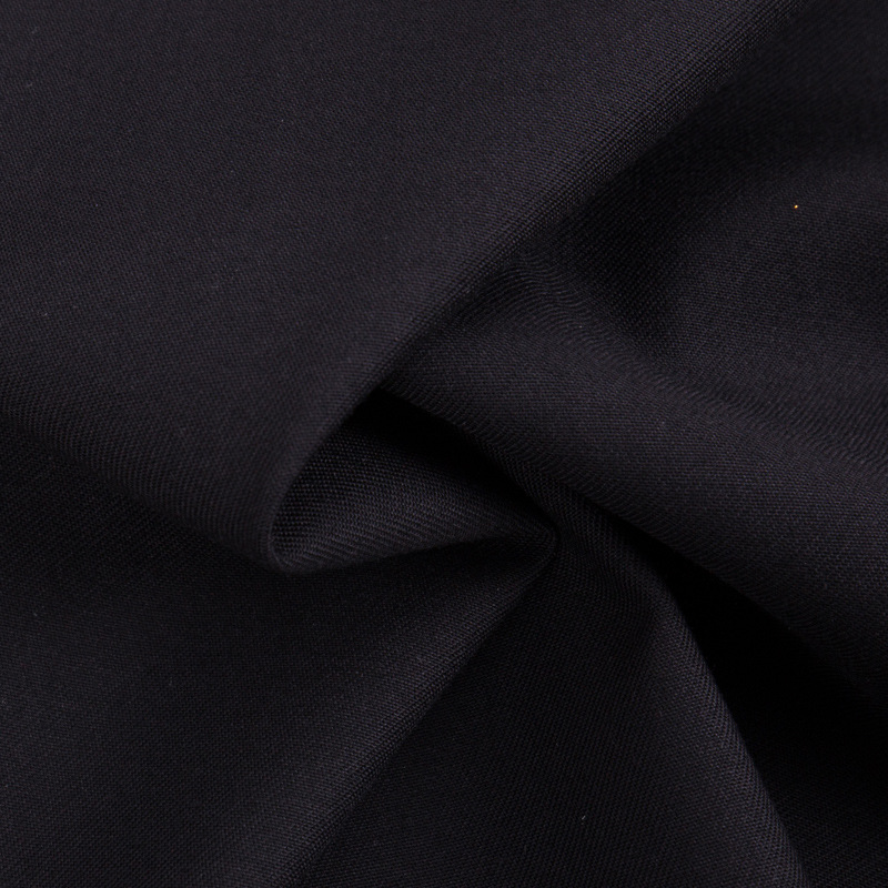 Spot supply TR suit suit serge fabric pure black polyester-cotton blended interwoven fashion casual