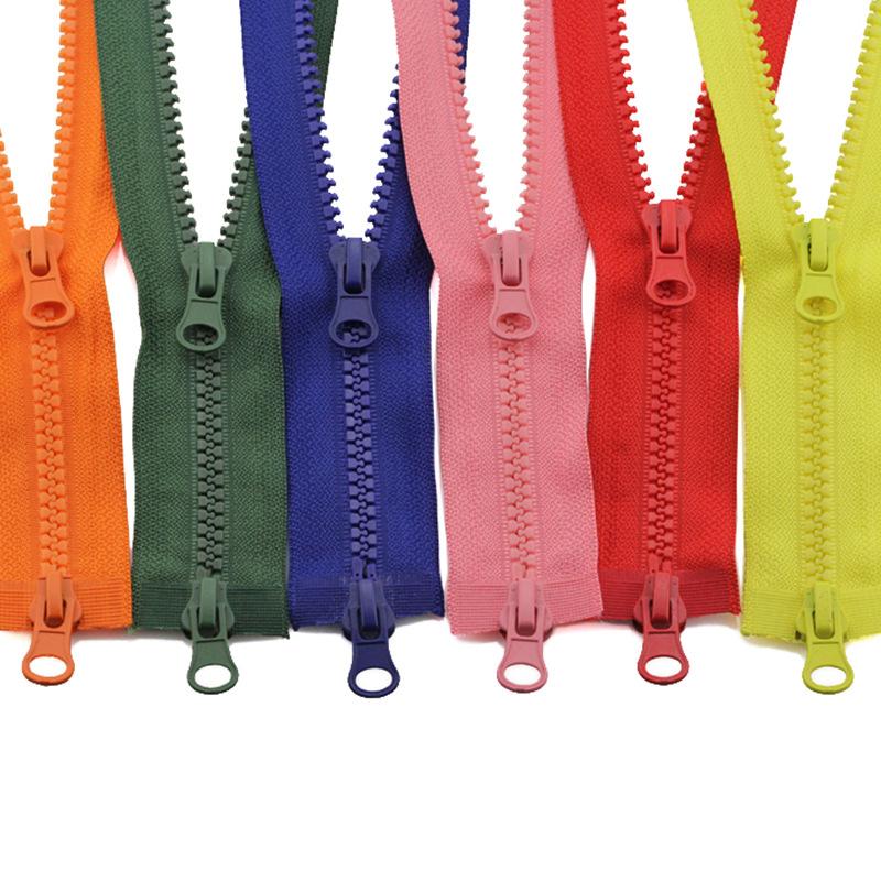 Resin zipper No. 5 down jacket double zipper clothes long zipper accessories sleeping bag two-way do