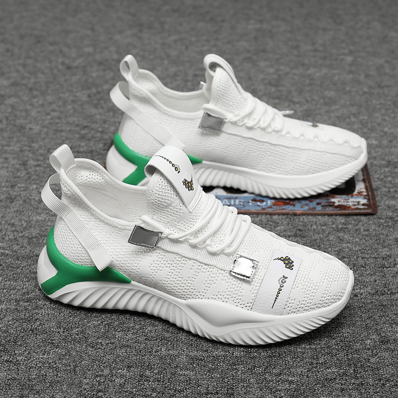 Men's shoes summer trend mesh breathable flying woven sneakers 2020 men's casual shoes tide coconu