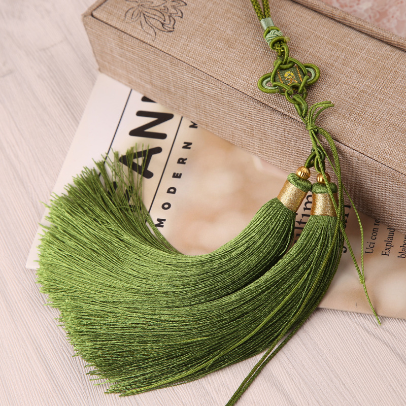SUYOT Chinese tassel and tassel combination double head hanging ear ice silk car hanging accessories