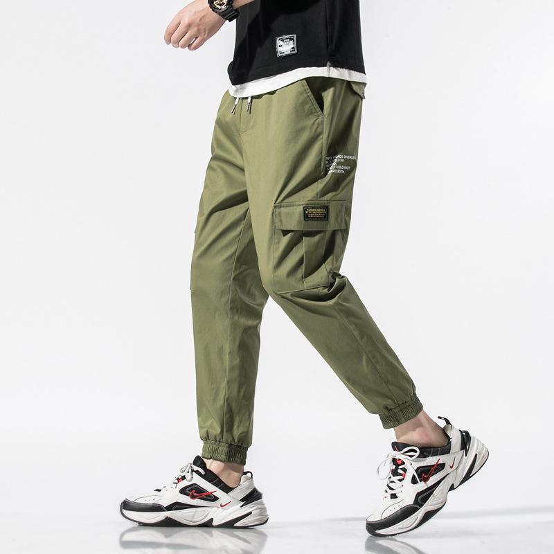 DINGBING Summer pants men's casual pants Korean version of the trendy brand loose feet camouflage n
