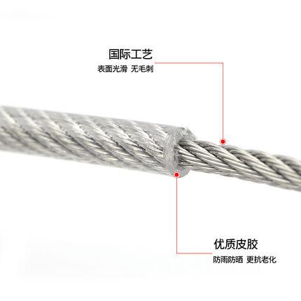Dây cáp  304 thép không gỉ bọc nhựa dây thép dây thép bọc nhựa dây thép trong suốt dây thép trong su