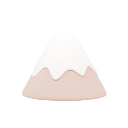 MUID Đèn tường  Thiết kế đáng sợ MUID Đèn núi tuyết Silicone LED Đèn ngủ cắm điện Đèn đầu giường phò
