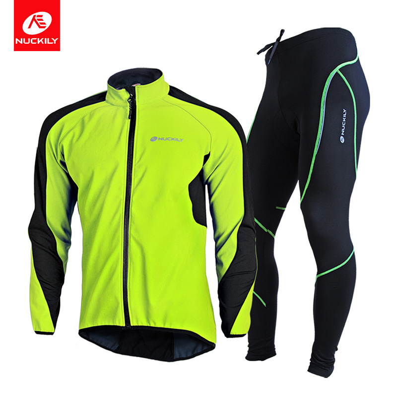 NUCKILY mountain bike cycling clothing outdoor sports autumn and winter warm suit bicycle cycling ra